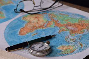 map monde, terres et mers