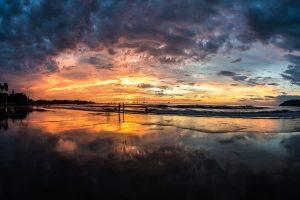 Coucher de soleil au Costa Rica
