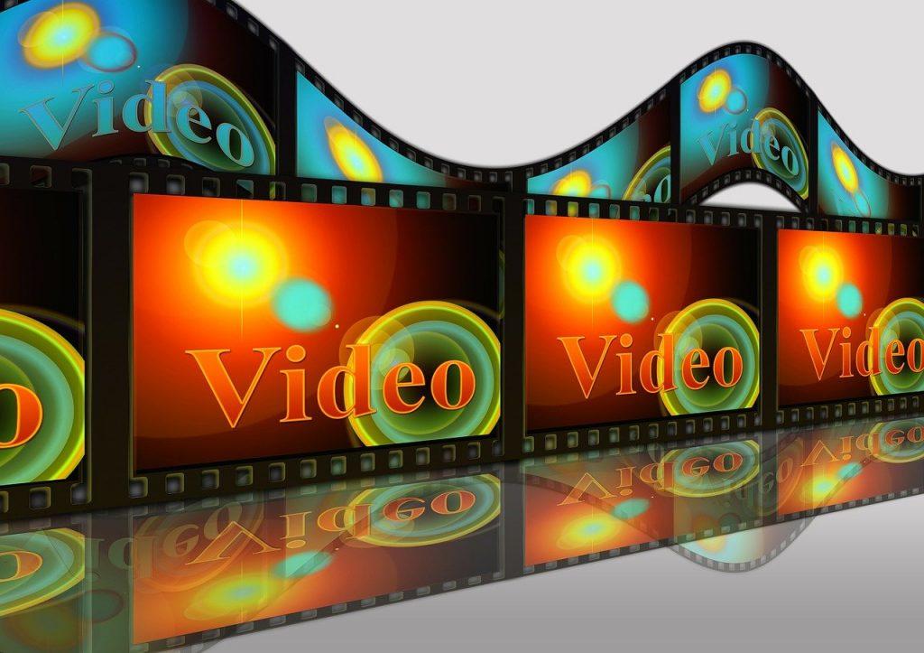 vidéo, projecteur, projecteur de film